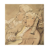 Two Musicians, C.1774 Giclee Print by Thomas Rowlandson
