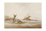 Boats of the Friendly Islands, from 'Views in the South Seas', Pub. 1791 Giclee Print by John Webber