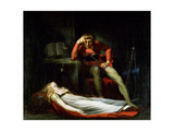 The Italian Court, or Ezzelier, Count of Ravenna Musing over the Body of Meduna, Slain by Him for… Giclee Print by Henry Fuseli