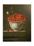 Still Life with Wild Strawberries in a Chinese Bowl Giclee Print by Adrian Coorte