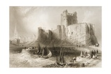 Carrickfergus Castle, County Antrim, Northern Ireland, from 'scenery and Antiquities of Ireland'… Giclee Print by William Henry Bartlett