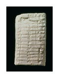 Prehistoric Tablet with Multiplication Table Giclee Print