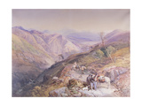 Glenshee from the Devil's Elbow, Aberdeenshire, Looking Towards the Spital, 1853 Giclee Print by Thomas Miles II Richardson