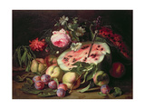 Still Life with a Water Melon Giclee Print by Abraham Brueghel