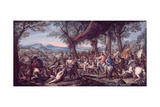 Alexander at the Battle of Arbela Giclee Print by Charles Le Brun