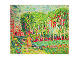 A Woman in a Birch Wood Giclee Print by Ernst Ludwig Kirchner