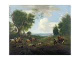 Hunting Scene Giclee Print by Jan Wyck