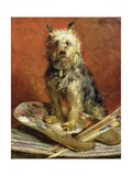 The Artist's Dog Giclee Print by Charles Van Den Eycken