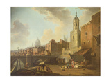 Fresh Wharf Near London Bridge, C.1762 Giclee Print by William Marlow