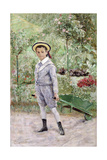 Boy with a Wheelbarrow, 1880 Giclee Print by Ernst Josephson