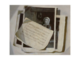 Trompe L'Oeil with Musical Score Sheets Giclee Print by Francois Vispre