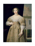 Portrait of Anne of Austria (1601-66) Giclee Print by Louis Ferdinand Elle