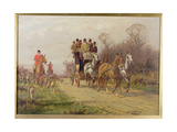 A Coach and Four Giclee Print by George Wright