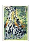 'Kirifura Fall in Kurokawa Mountain', from the Series 'A Journey to the Waterfalls of All the… Giclee Print by Katsushika Hokusai