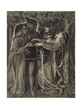 How They Met Themselves, C.1850/60 Giclee Print by Dante Gabriel Rossetti
