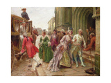 Arrival for the Wedding Giclee Print by Paul Emile Boutigny