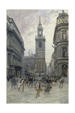 St. Stephen's Walbrook and Mansion House, C.1895 Giclee Print by Henry Edward Tidmarsh