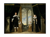 Portrait of a Nobleman, His Wife and their Two Daughters Giclee Print by Wolfgang Heimbach