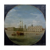 Greenwich Hospital from the River, 1748 Giclee Print by Samuel Wale