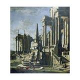 Imaginary Ruins Giclee Print by Leonardo Coccorante