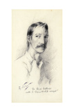Robert Louis Stevenson, 1892 Giclee Print by Count Girolamo Pieri Nerli