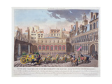 Sacred Festival and Coronation of their Imperial Majesties, View of the Place De Greve and the… Giclee Print by Louis Le Coeur