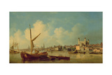 View of the River Thames, Near the Tower of London Giclee Print by Samuel Scott