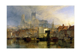 Lincoln Cathedral from the Brayford Pool Giclee Print by Henry Dawson