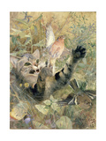 A Cat and a Chaffinch, 1885 Giclee Print by Bruno Andreas Liljefors