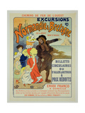 Reproduction of a Poster Advertising Excursions to Normandy and Brittany with the Western Railway… Giclee Print by Georges Meunier