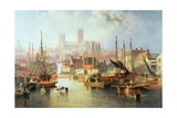 The Brayford Pool and Lincoln Cathedral Giclee Print by John Wilson Carmichael