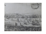 Panorama of London and the Thames, Part Four Showing the Tower and the Church of St. Olave, C.1600 Giclee Print by Nicolaes Jansz Visscher