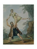 Andre Jean-Jacques Deshayes and James Harvey D'Egville in the Ballet-Pantomime 'Hercules and… Giclee Print by Antoine Cardon