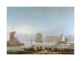 Shipping in an Estuary Giclee Print by Thomas Luny