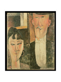 Bride and Groom (The Couple), 1915-16 Giclee Print by Amedeo Modigliani