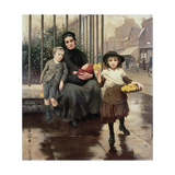 The Pinch of Poverty, 1891 Giclee Print by Thomas Benjamin Kennington