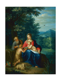 The Holy Family with the Infant St. John the Baptist Giclee Print by Pieter van Avont
