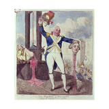 """The Martyr of Equality: Behold the Progress of Our System"", Pub. by S.W. Fores, 1793 Giclee Print by Isaac Cruikshank"