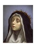 St. Catherine of Siena Giclée-tryk af Carlo Dolci