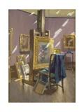 Painter's Studio Giclee Print by Joseph Denovan Adam
