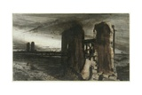 Ruins in a Landscape, 1870 Giclee Print by Victor Hugo