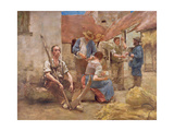 Paying the Harvesters Giclee Print by Leon Lhermitte