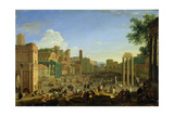 View of the Campo Vaccino in Rome, C.1631 Giclee Print by Herman Van Swanevelt