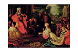 Solomon and the Queen of Sheba Giclee Print by Frans II the Younger Francken
