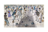 Curling Match on Duddingston Loch Giclee Print by Charles Altamont Doyle