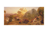 Harvest in the Vineyard, 1859 Giclee Print by Samuel Palmer