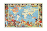 Imperial Federation Showing the Map of the World, British Empire, by Captain JC Colombo, C.1886 Giclee Print