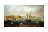The Bark 'Earl of Pembroke', Later 'Endeavour', Leaving Whitby Harbour in 1768, C.1790 Giclee Print by Thomas Luny
