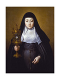 St Claire Holding a Monstrance with the Eucharist Giclee Print by Frans Luyckx Or Leux