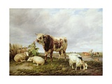 Cattle in the Meadow, 1843 Giclee Print by Thomas Sidney Cooper